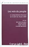 Les voix du peuple : le comportement électoral au scrutin du 10 juin 2009