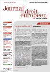 Vers un rétablissement de la libre circulation au sein de l'Union européenne : le certificat numérique européen en réponse à la Covid-19