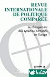 Le changement des systèmes partisans en Europe