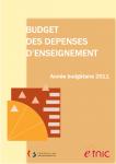 Budget des dépenses d'enseignement