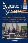 Education et sociétés, n°46 - 2021/2 - La formation professionnelle : parent pauvre de la sociologie de l'éducation ?