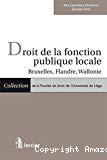 Droit de la fonction publique locale : Bruxelles, Flandre, Wallonie