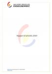 Rapport d'activités Wallonie-Bruxelles Enseignement (WBE) pour l'année 2019