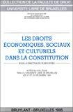 Les droits économiques, sociaux et culturels dans la Constitution. Actes du colloque tenu à l'Université Libre de Bruxelles les 21 et 22 décembre 1994.