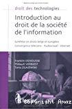 Introduction au droit de la société de l'information : analyse synthétique, pédagogique et prospective des textes applicables