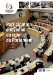 Participation citoyenne au coeur du Parlement