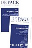 Traité de droit civil belge. Tome 1 : Les personnes. Volume 1 : Personnalité juridique. Relations familiales