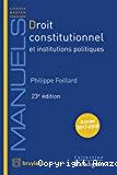 Droit constitutionnel et institutions politiques : année 2017-2018