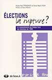 Elections, la rupture : le comportement des belges face aux élections de 1999.