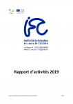 Rapport d'activités 2019 de l'Institut de la Formation en cours de Carrière