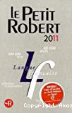 Le nouveau Petit Robert de la langue française 2011