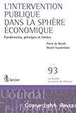L'intervention publique dans la sphère économique : fondements, principes et limites