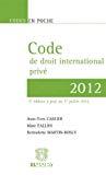 Code de droit international privé 2014