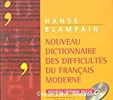Nouveau dictionnaire des difficultés du français moderne.