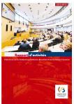 Rapport d'activités du Parlement de la Fédération Wallonie-Bruxelles/Communauté française