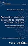 Déclaration universelle des droits de l'Homme et Charte de Banjul
