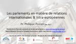 Les parlements en matière de relations internationales & intra-européennes